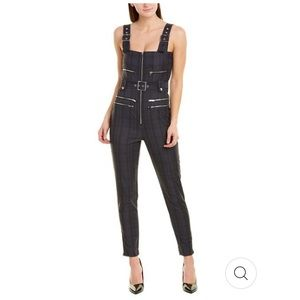 WeWoreWhat Plaid Buckle Overalls